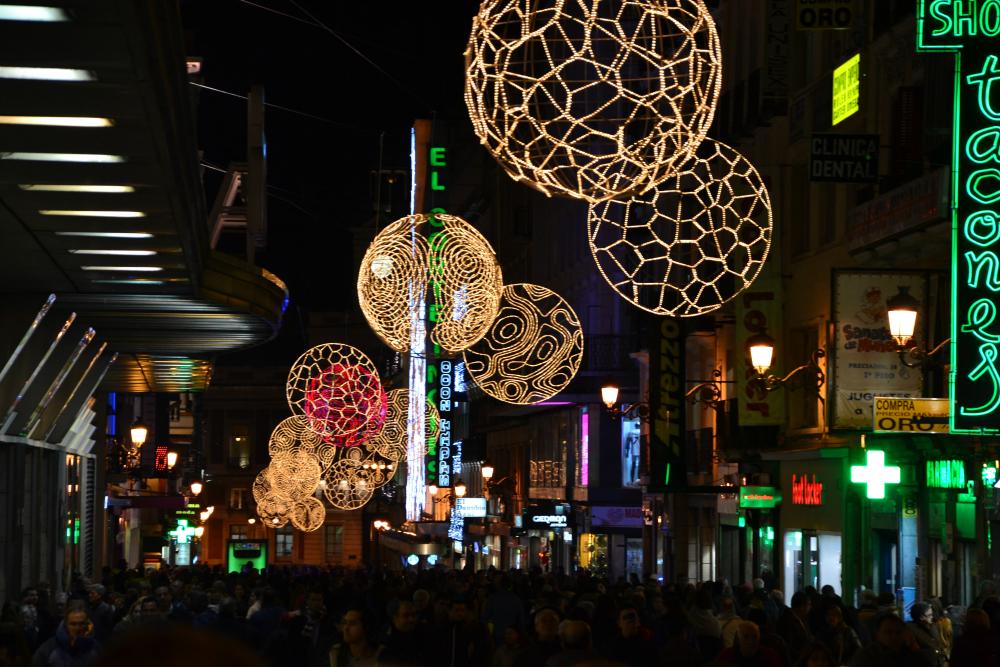 Luci di Natale a Madrid