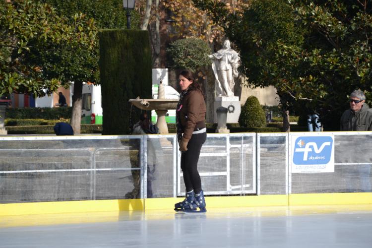 Piste di pattinaggio sul ghiaccio a Madrid