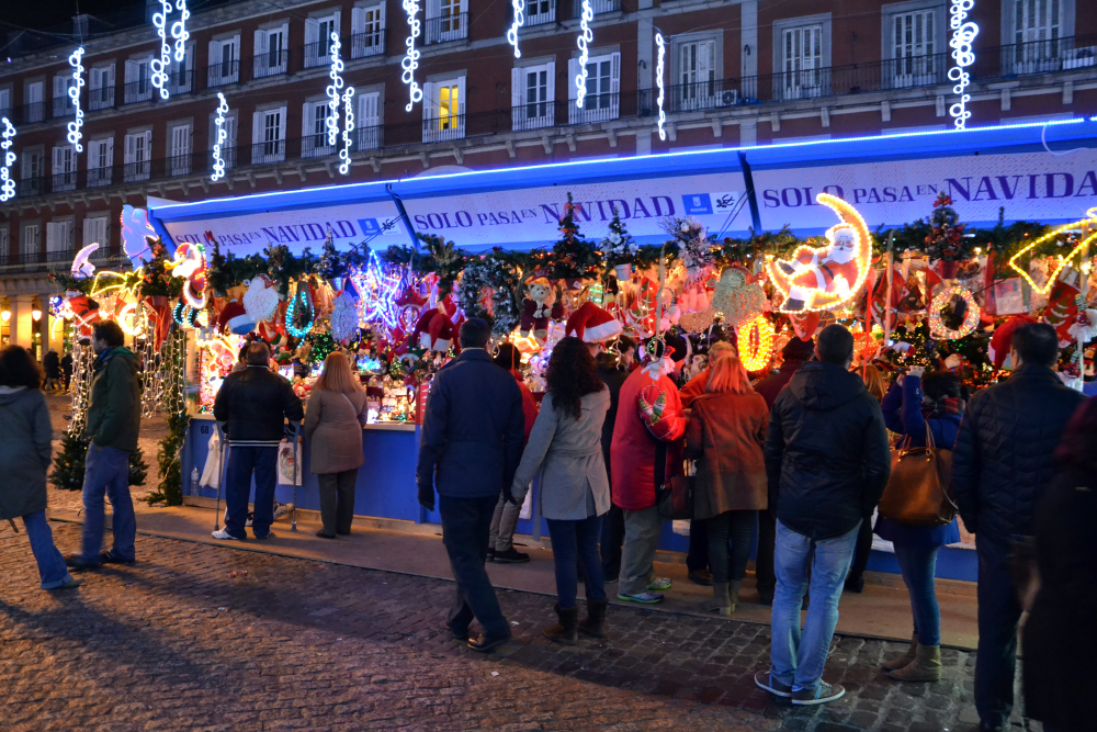 Mercatino di Natale nella Plaza Mayor