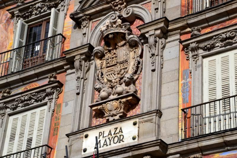 Plaza Mayor di Madrid - Dettaglio della casa del panificio / foto: OgoTours