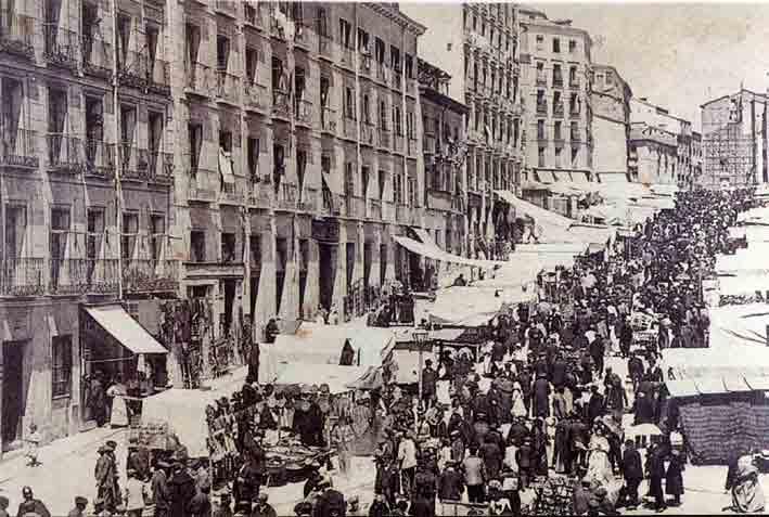 Il Mercato del Rastro nel diciannovesimo secolo