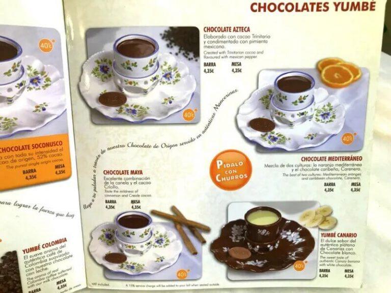 Mangiare churros e cioccolata a Madrid?
