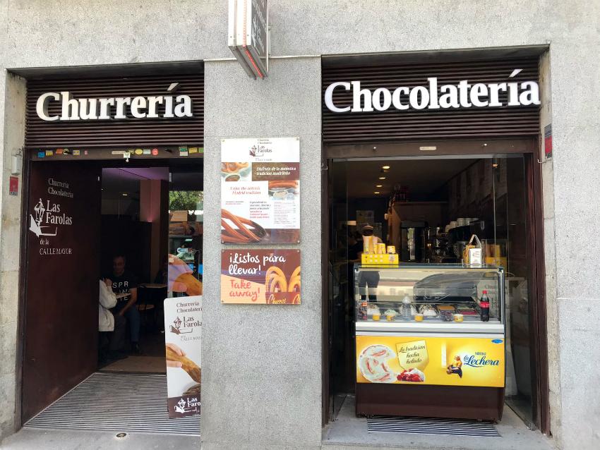 La cioccolateria Las Farolas si trova molto vicino alla Puerta del Sol e alla Plaza Mayor / Foto: OgoTours
